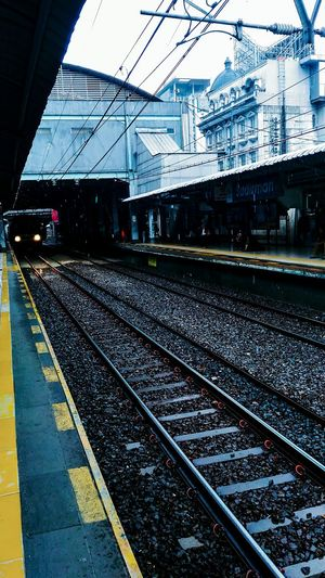 Leave the past behind Railroad Track Rail Transportation Transportation Railroad Station Platform Railroad Station No People Mode Of Transport Public Transportation Sky Outdoors Be. Ready.