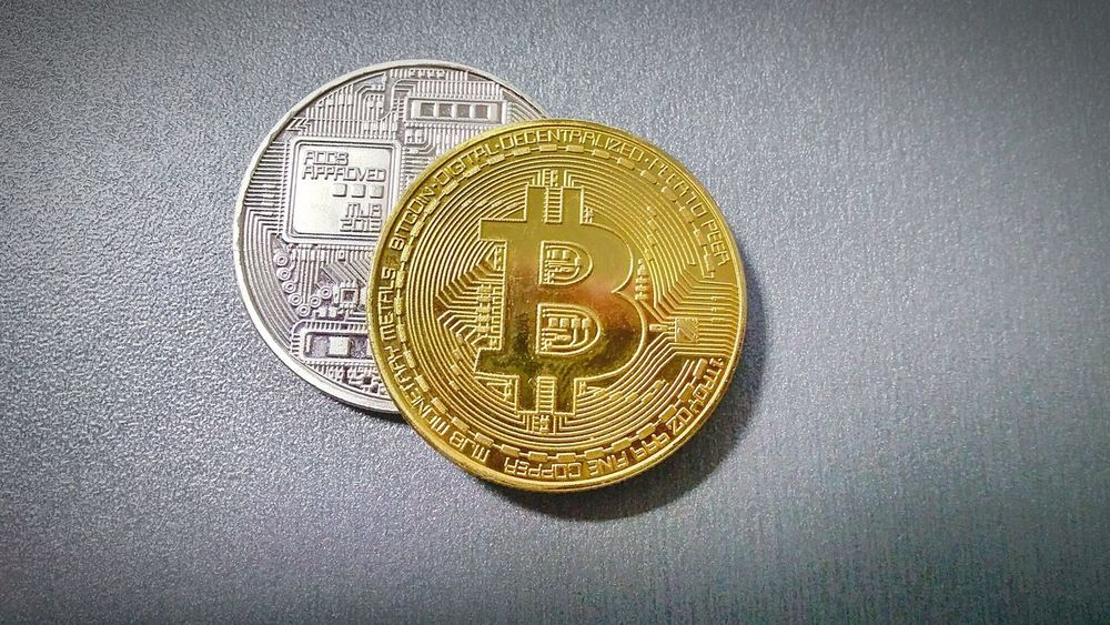 Bitcoins Coin Savings Currency Gold Colored Finance Ink Wealth Close-up Silver  Money Ingot Investment Piggy Bank Non-western Script Nest Egg Coin Bank Certificate Bald Eagle