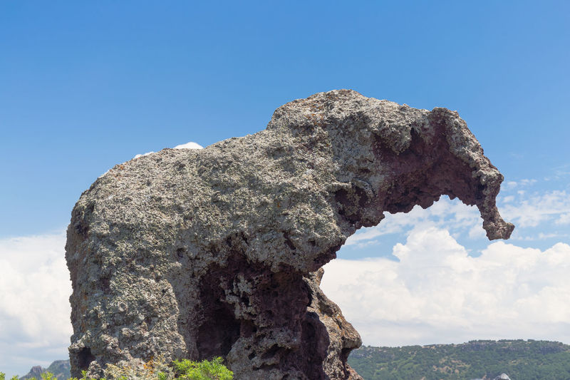 Elephant Rock is a large mass of trachyte stone standing beside State Road 134, just outside Castelsardo Beauty In Nature Castelsardo Day Elephant Rock Elephant Rocks Italia Italy Low Angle View Nature No People Outdoors Rock - Object Sardinia Sardinia Sardegna Italy  Sky Sky And Clouds Textured