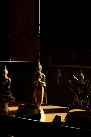Buddha Temple, Thailand Sillouette Sculpture Light And Shadow Asian Culture