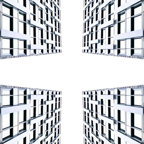 All4One4All. Germany Symmetrical Lookup Lookingup Architecture Symmetry Architecturelovers Structures Art Design Minimal Minimalism Lines Facade Building Düsseldorf