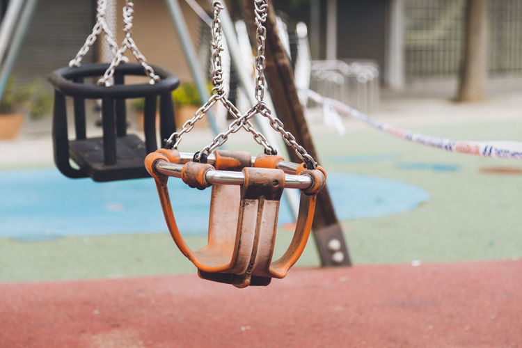 During the state of alarm, the police in a town of  barcelona area have sealed off the playgrounds