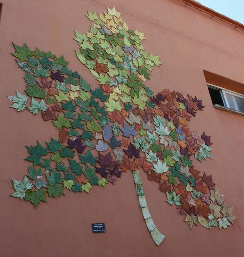 Carricola Vall D'Albaida Art Urban Fulles País De L'olivera Hojas