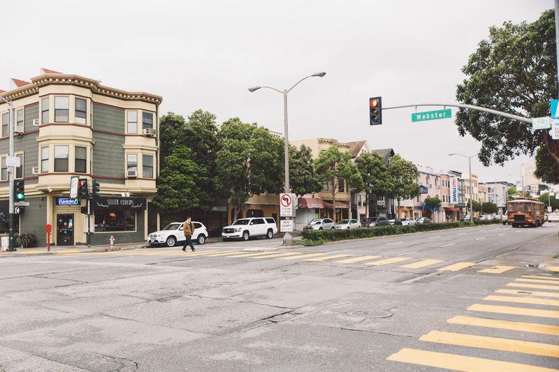 Architecture Cars City Intersection Rainy Semaphore Street Zebra Crossing