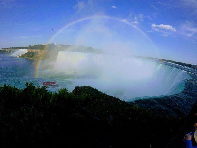 Water Outdoors No People Nature Beauty In Nature Scenics Beauty In Nature Eye4photography  Sky Beautiful Rainbows Overtherainbow Niagara Falls Canada 150 Horseshoe Falls Waterfalls Chasingwaterfall GoPro Hero3+ Lovely