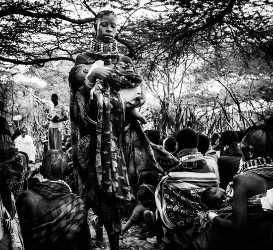 The Mission, Nariokotome Into The Wild Kenya Lake Turkana Mother Nariokotome Raining Rainy Days Remote Location The Mission The Week On EyeEm Africa Day To Day Baptism Blackandwhite Documentary Leica Monochrome Praying Proselytize Reportage Tribe