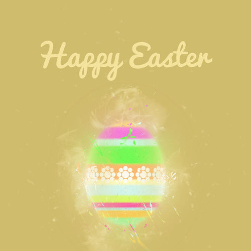 Happy Easter greeting card. Easter egg on a beige background. Digital art Art ArtWork Beige Background Celebration Collage Art Colorful Design Digital Art Digital Painting Easter Easter Eggs Floral Pattern Graphic Greeting Card  Illustration Multicolored Ornament Pascha Pattern Religious Holiday Seasonal Spring Symbol Text Word