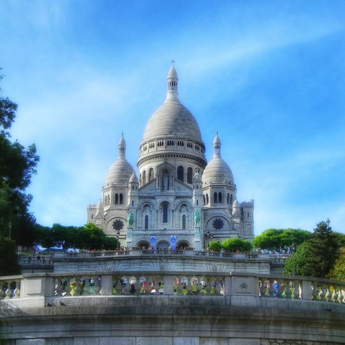Basílica del Sacré Cœur Politics And Government Tree Dome City Religion Place Of Worship Sky Architecture Building Exterior Built Structure Cathedral Historic Church Catholicism Façade Spirituality