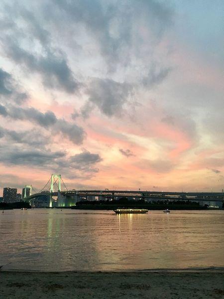 City Life Sky And Clouds Riverside Tokyo,Japan JapanLife Sky Elimination