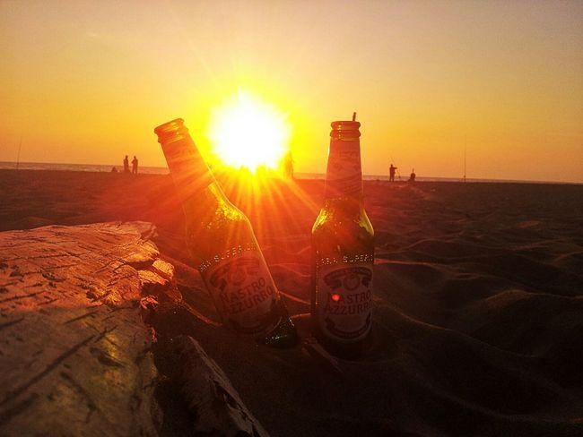Relaxing I ❤ Beer Sunset Sun