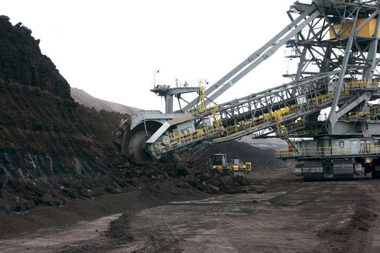 coal mine in Lausitz, Germany, symbol for the need of climate change Symbol Climate Climate Change Coal Coal Mine Energy Energie Energiewende Klimawandel Abbaugeraete Machines BIG Tagebau Braunkohle Monster
