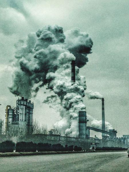 Factory Factorywork Fog TANGSHAN Hebei China