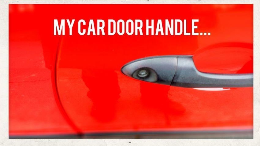Car Doorhandle Clean Car Ferrari