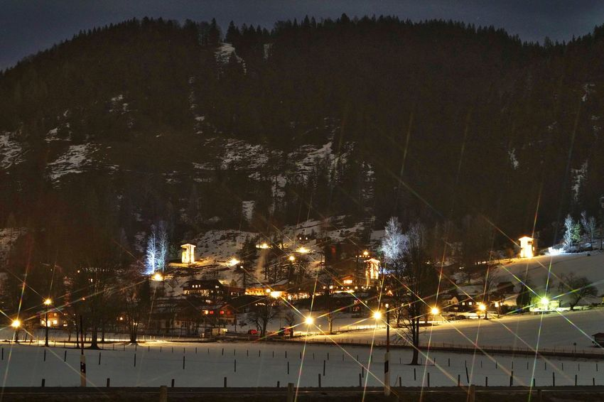 Night Long Exposure LongTerm Nature Snow Winter Landscape Bavaria Travel Bayrischzell Snowscape Starfilter Montain  Nightphotography Available Light