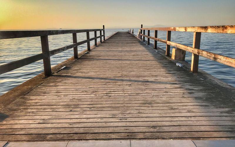 Sea Water Pier Wood - Material The Way Forward Boardwalk Railing Beauty In Nature Nature Sunset Tranquil Scene Scenics Tranquility Outdoors No People Beach Horizon Over Water Sky Day Bridge Yalova Türkiye Turkey