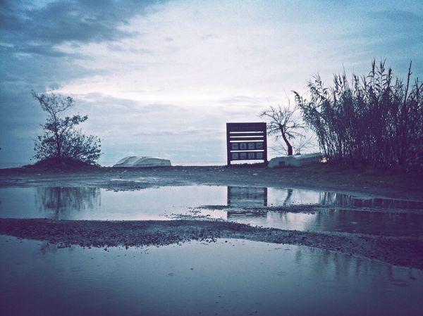 Rainy Day After The Rain Reflection Melancholic Landscapes