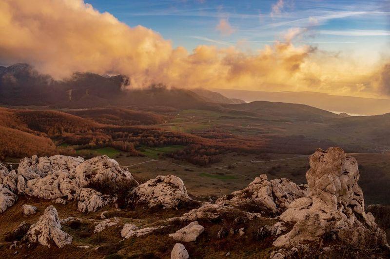 Magical Velebit. Nature Photography EyeEmNewHere Nature Croatia Wilderness Sunset Mountain Sunset Fog Sky Landscape Cloud - Sky Mountain Peak Fall Foggy Autumn Collection Mountain Range Majestic