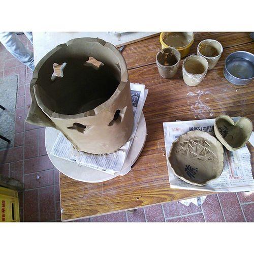 以前生け花用の花器を制作してきました。 制作途中 花器 陶芸 生け花 日本 japan