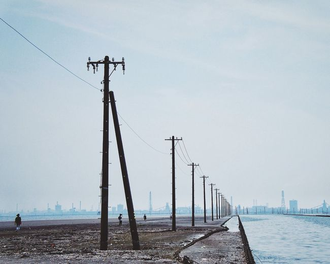 Electric Pole Seashore Sea Shore Landscape_Collection EyeEm Best Shots Eye4photography  Vscocam Tiny People