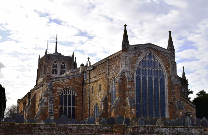 East Window Rothwell Rothwell Northamptonshire Architecture Building Exterior Built Structure Cloud - Sky Day History Low Angle View No People Outdoors Place Of Worship Religion Sky Spirituality