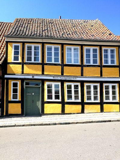 Old house in Holbæk, sjælland Window Sky Architecture Building Exterior Built Structure Row House Townhouse First Eyeem Photo
