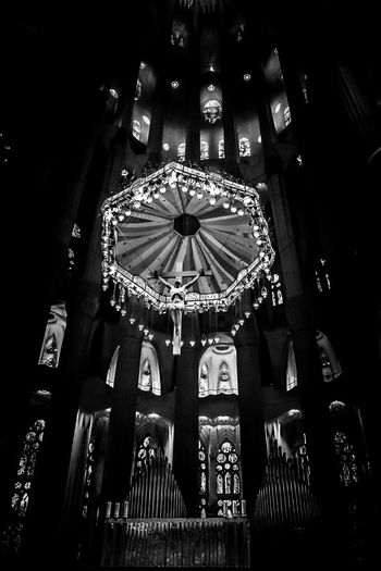 Architectural Feature Architecture Black And White Friday Awesome Awesome Architecture Barcelona Barcelona, Spain Barcelonalove Crucifix Epic Gaudi Indoors  Jesus Jesus Christ Low Angle View Modernism No People Religion Religious Architecture Sagrada Familia Spirituality Stunning The Architect - 2017 EyeEm Awards Worship Worshiping God