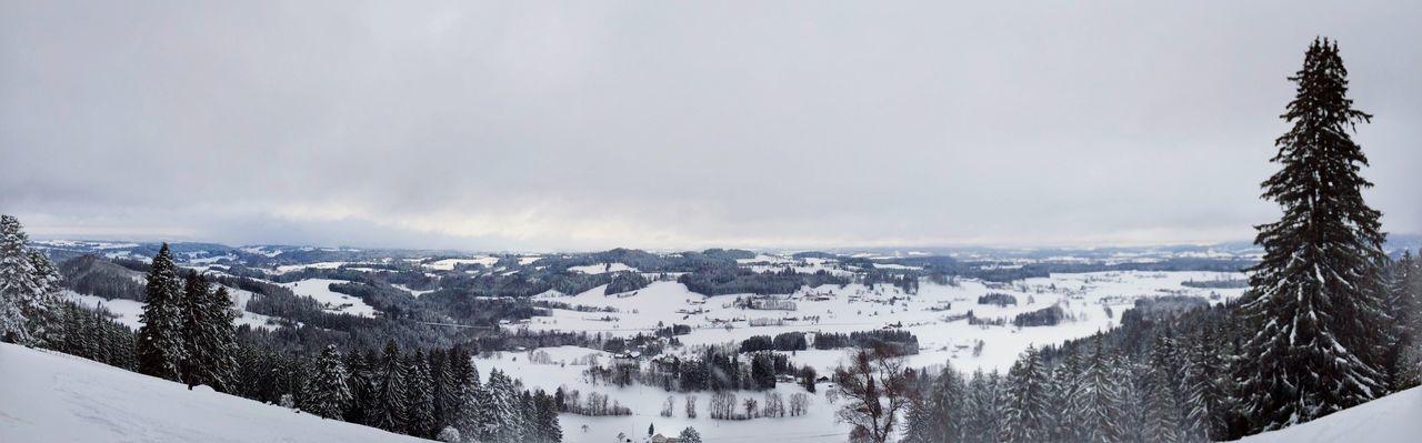 Winter im Allgäu Blick vom Iberg Wintertime Landscape