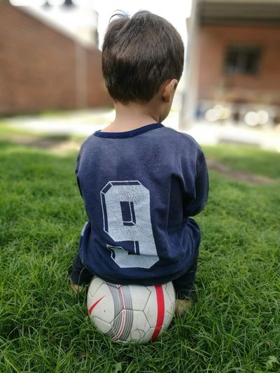 9 9 HuaweiP9 Dreams Ilusion Father & Son Father Love Child Childhood Boys Males  Sport Disappointment Full Length Grass Kids' Soccer Soccer Goal