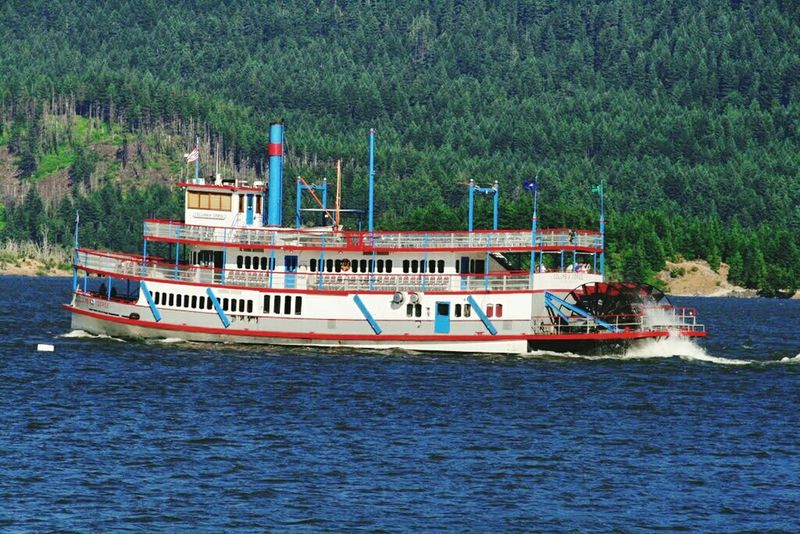 Columbia River Sternwheeler Sternwheeler Columbia River Gorge Washington Columbia River Nautical Vessel Water River Nature Day Transportation Outdoors