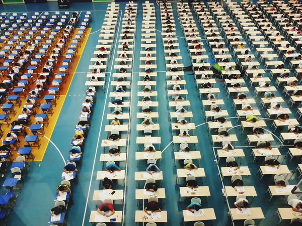 Chinese middle school graduation test room