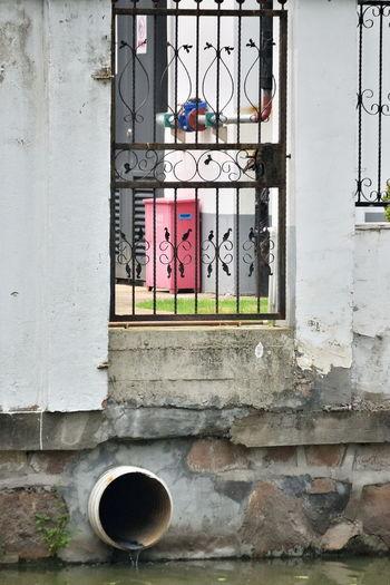 Window by sewage