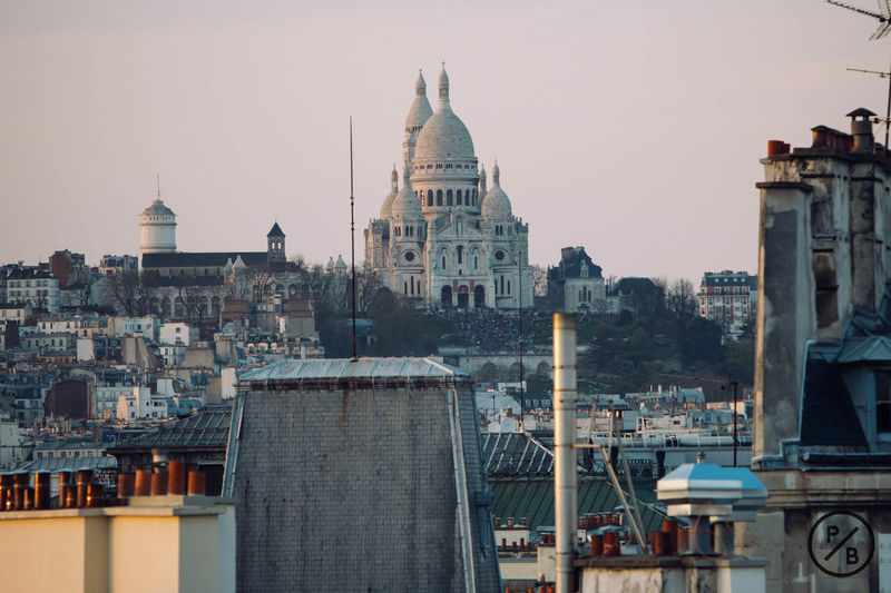 Paris Montmartre Sacre Coeur Roofs Rooftop Scenery Rooftopping Rooftopview Vscocam www.instagram.com/pierrebdn