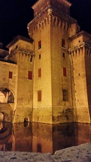 Ferrara Castle Castello Estense Italia Italy Riflessi Sull'acqua Fossato Riflectionswater Riflection