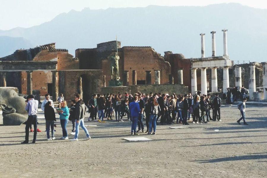 Large Group Of People Architecture People History EyeEmNewHere Pompeii Details Pompeii Ruins Pompeii