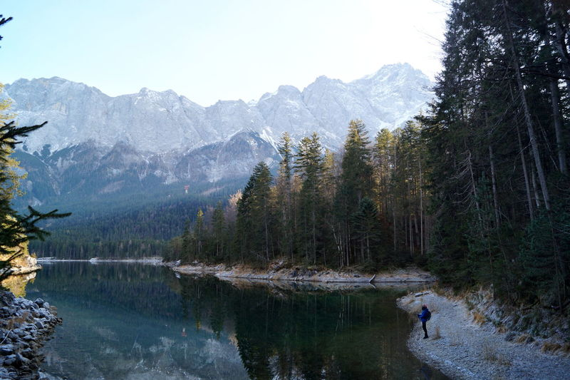 Bayern Germany Eibsee Garmisch Mountain View Bavarian Alps Bayern Beauty In Nature Day Forest Garmisch-partenkirchen Grainau Idyllic Lake Land Mountain Mountain Range Nature Non-urban Scene Outdoors Reflection Reflections In The Water Scenics - Nature Tranquil Scene Tranquility Water The Great Outdoors - 2018 EyeEm Awards The Traveler - 2018 EyeEm Awards