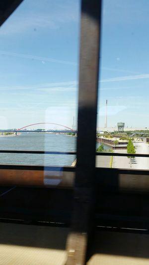 Frommypointofview Looking Through Window Aus Dem Zug Form My Point Of View NRW über Den Rhein Flüsse In Deutschland Fluss Action Shot  Summer Road Tripping Water Harbor Sea City Ship Sky