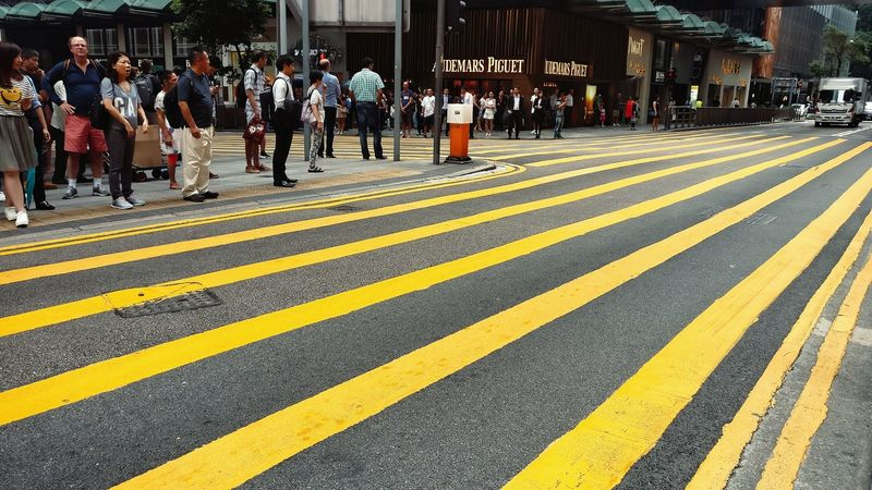 Nobody is on the lines. Discipline Zebra Crossing Yellow Road Street Street Photography Pedestrians City Life Prosperity Urban Lifestyle Still Life Afternoon Walk Public Space Colour Of Life Eyeemphoto EyeEm Gallery Capture The Moment