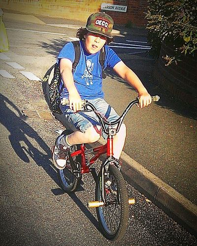 Riding Bicycle Childhood On The Move Enjoyment Bmx Bikes Cycling Bmxrider  Outdoors Summer