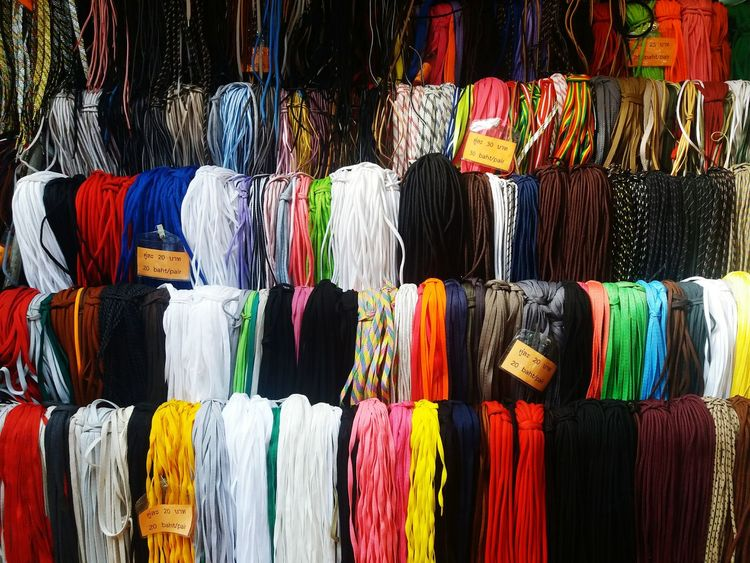 multi colored backgrounds retail for sale large group of objects textile store close-up no people Shoelace Rope Color Colorful Photo Patterns & Textures Shoe Shop EyeEmNewHere