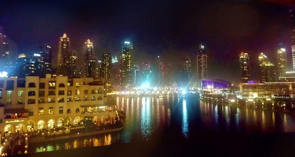 Downtown Dubai Big City City Life City Lights Night Lights Night View Quiet Bright Light Serene Color Neighborhood Map