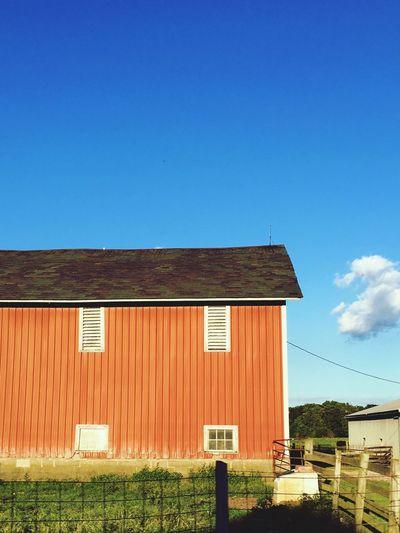 Barn against blue sky