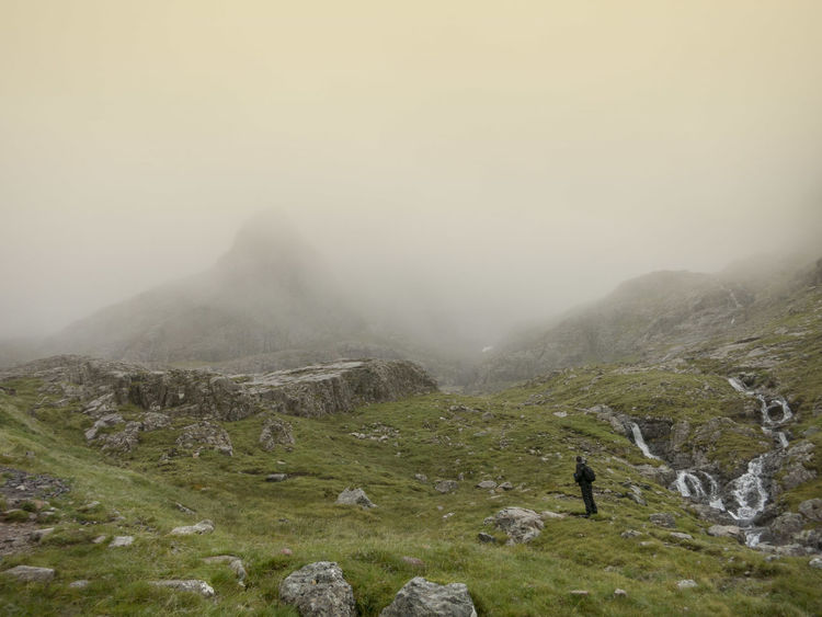 Ben Nevis Cloudy Fog Foggy Hiking Hiking Hill Landscape Majestic Mountain Mountain Range Mountains Scotland Walking Landscapes With WhiteWall