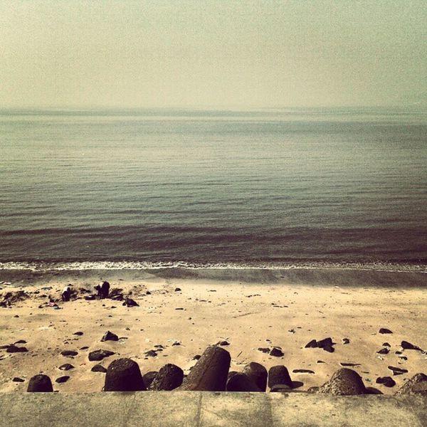 Beach Seashore Mumbai Marindrive Beauty Scene