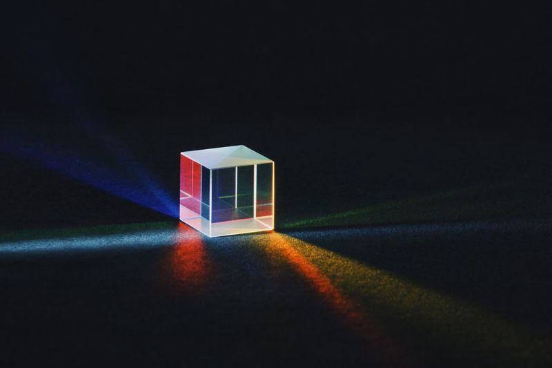 Prism, December 2018 Spectrum Cube Prism Indoors  Multi Colored No People Still Life Close-up Light - Natural Phenomenon Single Object Illuminated Studio Shot Black Background Glass - Material Dark Copy Space Glowing Creativity Shape Reflection