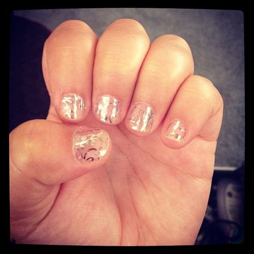 I love my Jamberry Nails! Socute Clearfloral Inlove Classy musthave @jamberrynails