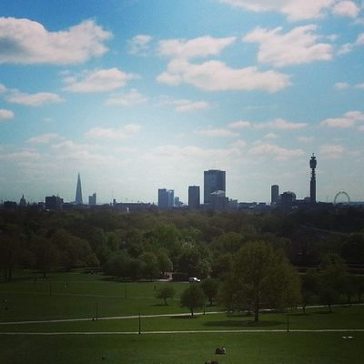 ☀ ? with @melina_124 London Pimrosehill Regentspark StPaulscathedral theschard bttower londoneye skyline