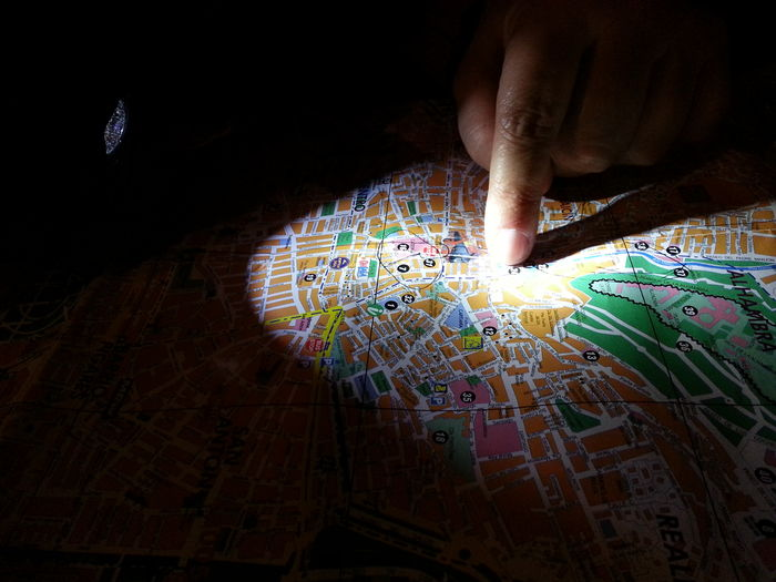 there.... shhhhhhh. Light Map of Granada