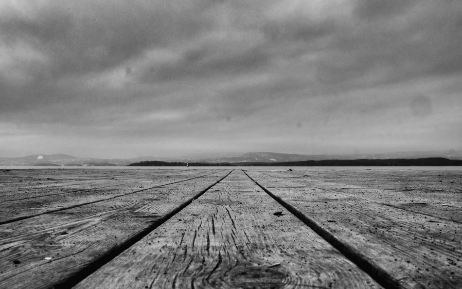 A pier with perspective Fjord Pier No People Pier Pier And Sky Pier Perspective Rough Pier Sky Wodden Pier Wood - Material