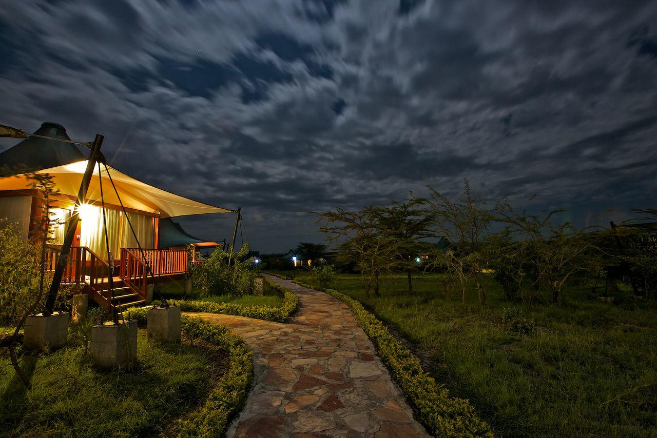 Illuminated House Against Sky At Dusk