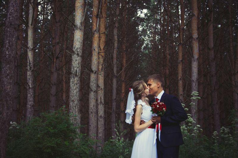 Wedding Kiss Forest Park Forest
